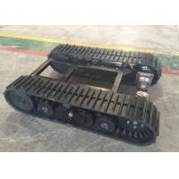 60  Links Rubber Track Undercarriage 357kg Weight For Robot / Loader Machinery Manufactures