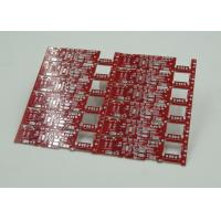 Double Sided PCB Board Fabrication Red Solder Mask PCB PD Free HASL Finish Manufactures