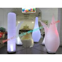 China Led Color Changing Inflatable Lighting Decoration Pillar / Tusk For Parties on sale