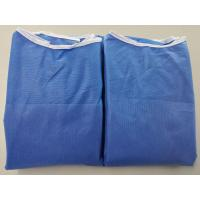 China Anti Dust Blue Disposable Hospital Gowns , Safety Protective Clothing for sale