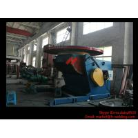 1.2T Pressure Vessel Pipe Rotary Welding Positioner With Worktable Revolving And Tilting Type Manufactures