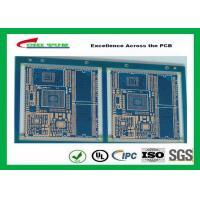 Blue Solder Mask GPS PCB 6 Layer FR4TG150 1.6MM Immersion Gold Half Holes Manufactures