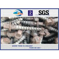 Track Hex Head Railway Sleeper Screws , Square Head Screw Spike Manufactures