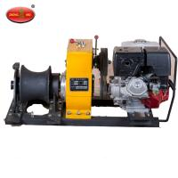 China Lifting equipment 1 Ton Gearbox Lifting Winch With Honda Engine on sale