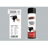 500ml Animal Marking Spray Paint  Silver Grey Color For Cow Liquid Coating State Manufactures