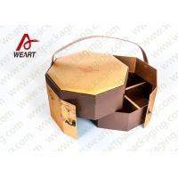 China Golden Coated Customized Cardboard Gift Boxes With Lids CMYK Printing on sale