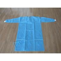 Nonwoven SMS / PP + PE Disposable Medical Gowns / Surgical Isolation Patient Coat  S M L XL Manufactures