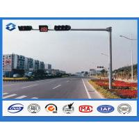 3mm Thickness Polygonal traffic light pole Hot dip galvanized with ASTM A 123 Manufactures