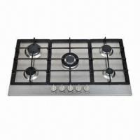 SS Gas Stove, Built-in Hob with 5 Burners, Made of Steel Material Manufactures