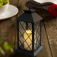 Vintage Indoor Black Lantern Flameless LED Candles With Plastic Wavy And Drip Manufactures