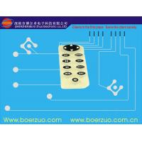 EL Display Backlit Membrane Switch With Embossed 280g Force Metal Dome Manufactures