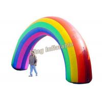 Colorful Oxford Fabric Rainbow Inflatable Arches For Event Entrance Manufactures