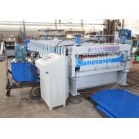 PLC Automatic Zinc Roofing Roll Forming Machine / Corrugated Roof Sheet Making Machine Manufactures