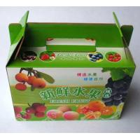 carton fruit box with handle Manufactures