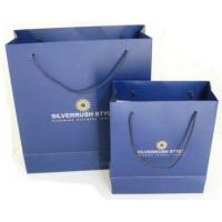 China Logo printed eco-friendly custom Paper Shopping Bags on sale