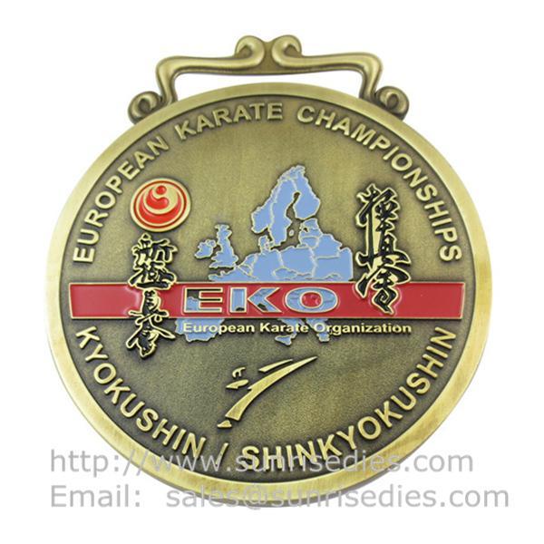 Engraved metal medals maker China