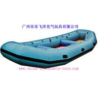 Quality 0.9 Mm Good Tension Tarpaulin PVC Inflatable Boat / Inflatable Raft for sale