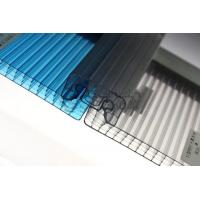 Various Colors Corrugated Polycarbonate Greenhouse Panels Flame Resistance Manufactures