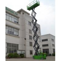 13.8m Hydraulic Scissor Lift DC , 1.5Kw Moving Power Self Propelled Scissor Lift Manufactures