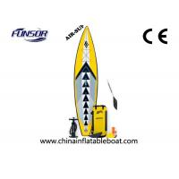 Portable Inflatable Racing Touring board For Single Person 3 x 0.72m yellow color Manufactures