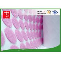 Eco - friendly Pink Custom Hook and Loop Patches Dot Shape In Rolls Manufactures