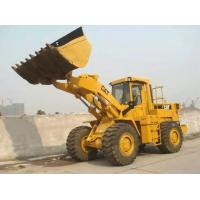 Yellow Color Used Caterpillar 966e Wheel Loader Sale , Cat Rubber Tire Loader