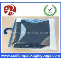 Color Printing Soft Pvc Packaging Bags With Plastic Hanger For Underwear Clothing Manufactures