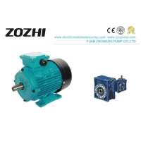 B35 Flange 1.1kw Aluminum Electric Motor 1.5Hp With Gear Boxes Manufactures