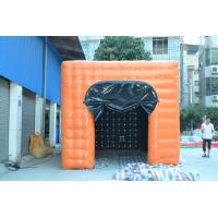 Oxford Cloth Square Inflatable Backyard Tent  Orange Durable For Show Manufactures