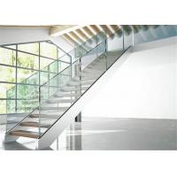 Indoor Stair Frameless Glass Railing U Channel Aluminium Alloy Material Manufactures