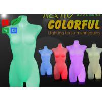 Quality RGB Color Illuminated Mannequin Retail Display LED Lighting Torso For Garment Shop for sale