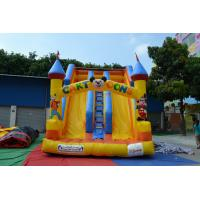 0.55mm PVC Fireproof Tarpaulin Commercial Inflatable Slide Yellow Manufactures