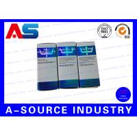 Buy cheap Custom Printed Antique 10ml Vial Boxes Silver Hologram Printing from wholesalers