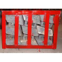 Chromium Molybdenum Steel Concaves Of Ball Mill Lining Packed in Pallets Manufactures