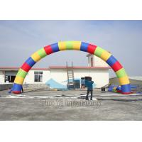Quality Rainbow Balloon Arch Inflatable Start Finish Line Event Archway for sale