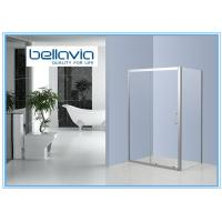 Quality Bright Framed Stainless Steel Shower Enclosures Glass One Sliding Door Shower for sale