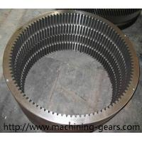 Rotary Kiln Internal Tooth Gear / Ball Mill Hss Large Ring Gear Abrasion Resistant Manufactures