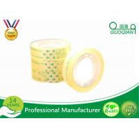 Smooth Clear Color Code Tape , Water Based Transparent Bopp Tape Pressure Sensitive Manufactures