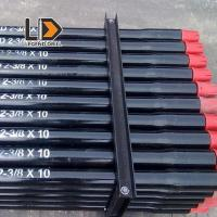 Black Threaded DTH Drill Rods Shock Resistance For Water Well Drilling Manufactures