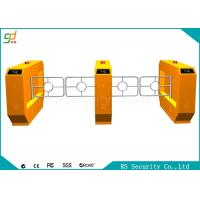 RS485  Yellow Swing Barrier Gate With IR Sensor Anti-pinch Bi-direction Door Manufactures