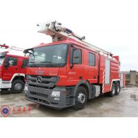 High Spraying Water Fire Truck Benz Chassis With Fully Synchronized Gearbox Manufactures
