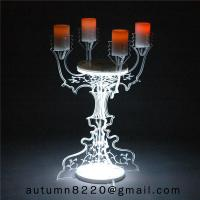 CH (22) home floor standing acrylic candle holders Manufactures