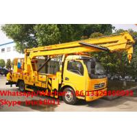 Quality Factory sale cheapest price Dongfeng LHD 16m aerial platform truck, Wholesale best price 12-16m overhead working truck for sale