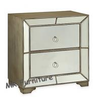 Hollywood Mirrored Night Stands Strong Clear Mirror Wooden Material Manufactures