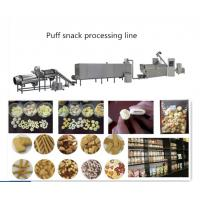 Puffed Chocolate Filling Snack Food Production Line With Self Cleaning System Manufactures