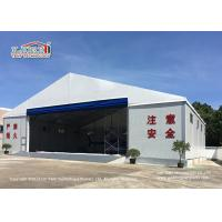 China White Large Aircraft Military Hangar Tent With Rolling Door For Banquet on sale