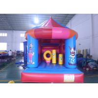 Blue Mushroom Shape Child Inflatable Theme Park Double And Quadruple Stitching Manufactures