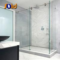 China manufacturer bathroom glass door design with price Manufactures