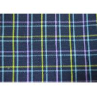 Plain Style Yarn Dyed Fabric Multi Clolor Grid Pattern For Garment Manufactures