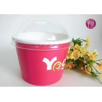 China Take Away Disposable Ice Cream Cups With Lid , Eco Friendly Paper Cups on sale